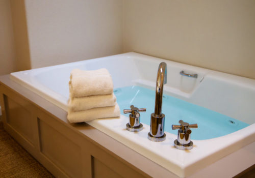 jetted tub with mineral spring water
