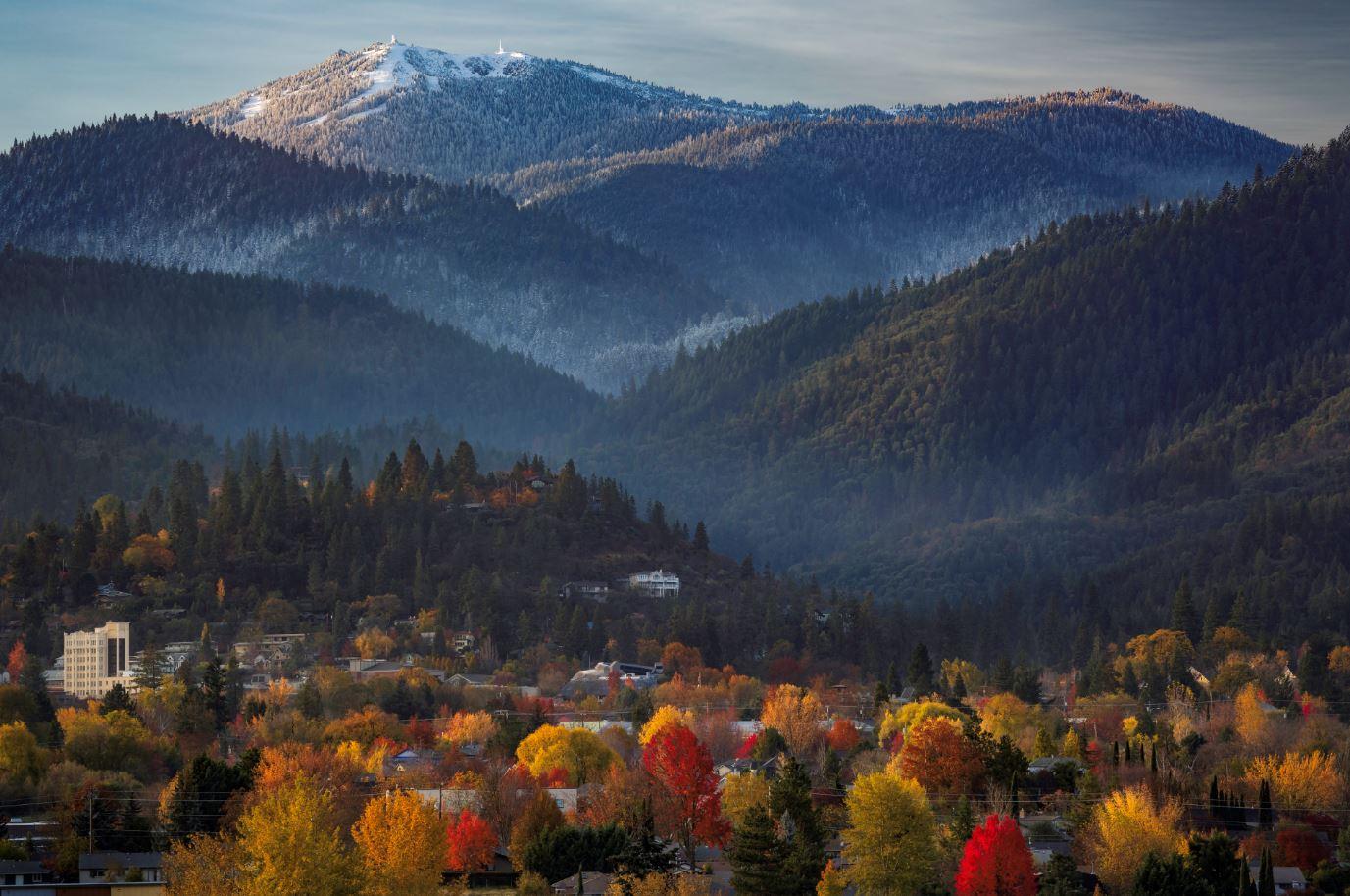 fall in Ashland Oregon